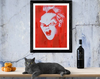 Red Vampire The Lost Boys A4 Sized Print. 1980's Cult Film Gifts.