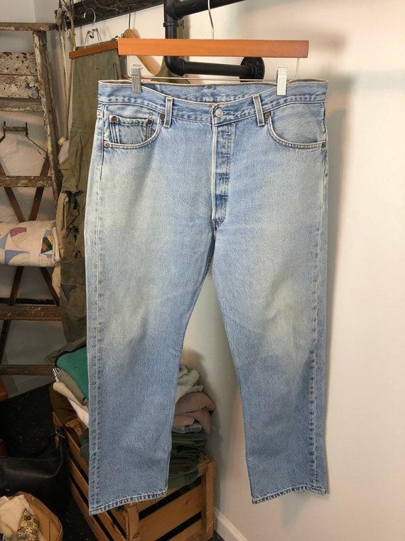 Distressed Levi's 501 | vintage 90s jeans | vinta… - image 2