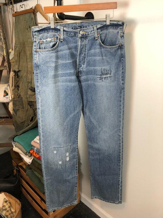 Distressed Levi's 501 | vintage 90s jeans | vinta… - image 1