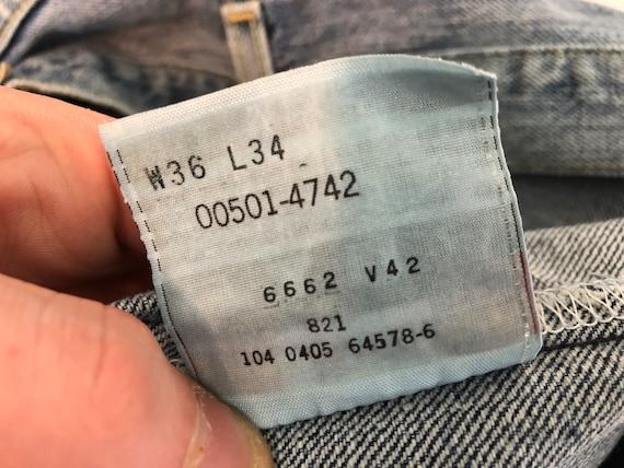 Distressed Levi's 501 | vintage 90s jeans | vinta… - image 6