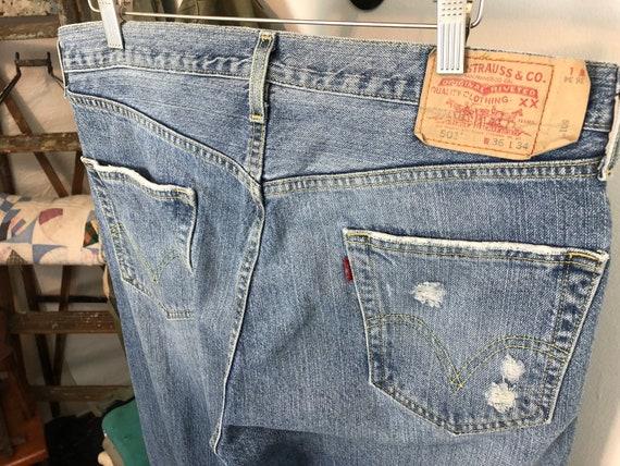 Distressed Levi's 501 | vintage 90s jeans | vinta… - image 4