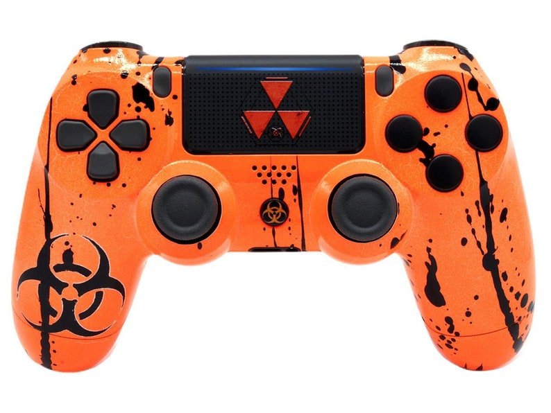 Toxic Orange Custom PS4 Rapid Fire Modded Controller for COD games All  Games (CUH-ZCT2) - Infinity Warfare, Destiny and more