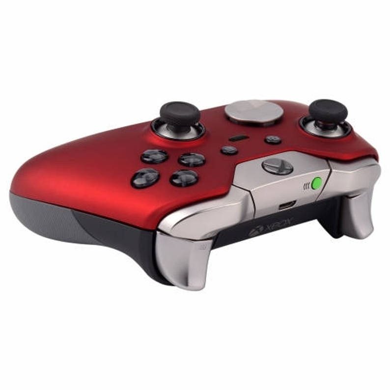 Soft Touch Red Xbox One ELITE Rapid Fire Modded Controller 40 Mods for COD  BO3, Destiny, GOW 4 Quickscope, Jitter, Auto Aim and Much More