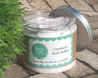 Pamper gift, teacher gift, Body butter, Cranberry, gift for her, wife gift, girlfriend gift, whipped body butter, body lotion, skincare