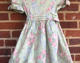 Vintage 90s Laura Ashley Flirty Floral Dress