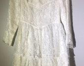 Gunne Sax,Jessica McClintock Girls sz 8 Lace Victorian Dress,Girls dress,made in USA,lace dress