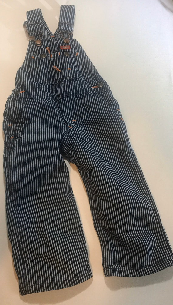 Vintage Dickies 2T Hickory striped, railroad overa