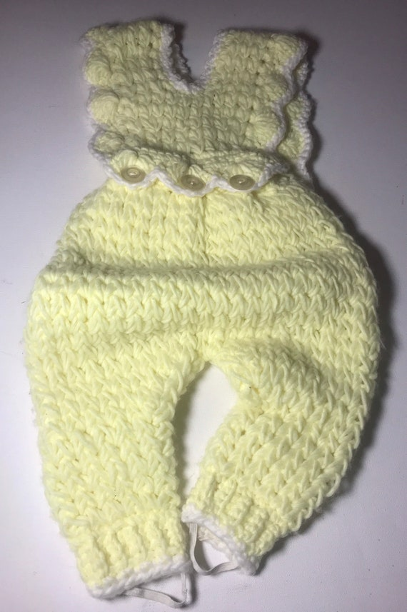 Knitted overalls,infant,overalls,knit outfit,over… - image 4