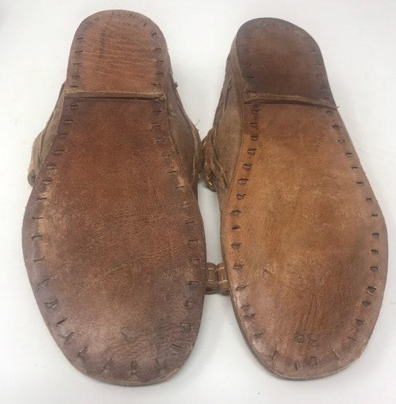 Leather girls sandal,sz 12,ethnic sandal - image 6