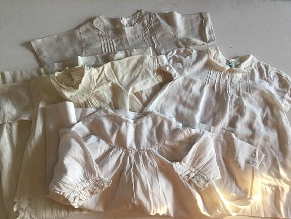 Antique 1903 White Cotton Infant Baby Shirt 620561019