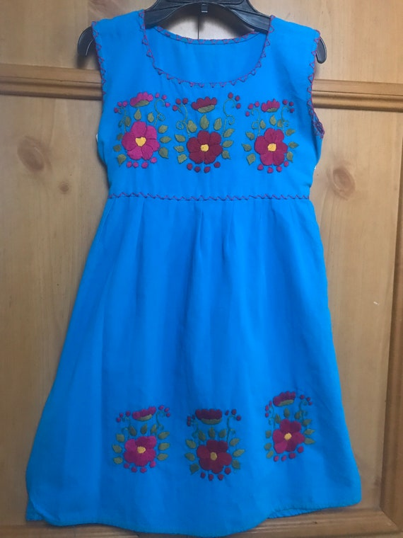 Girls Embroidered Handmade Dress,Embroidered Dres… - image 1