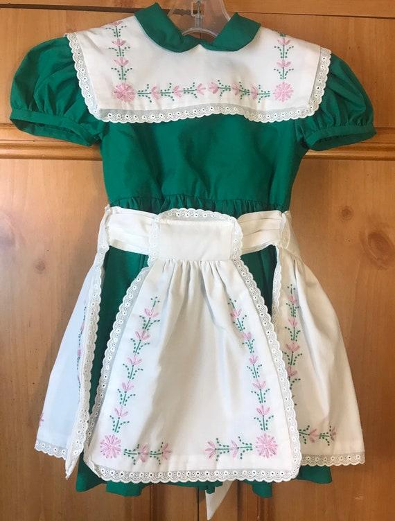 Vintage Handmade Apron Pinafore Dress,Apron dress,