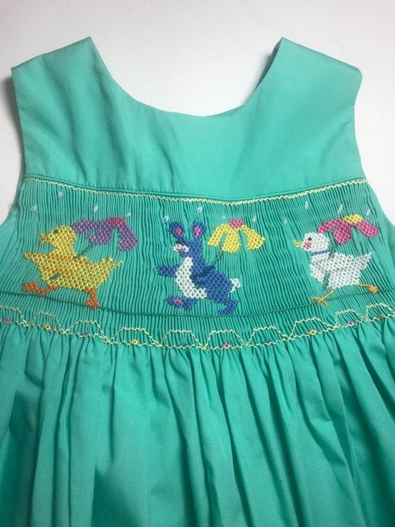 Vintage Handmade Smocked Dress,smocking,smocked gi
