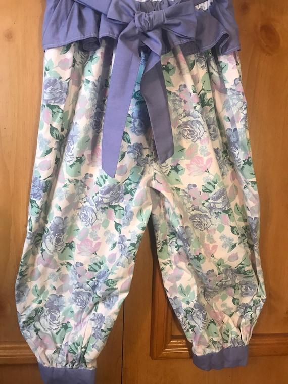 Vintage Handmade Floral Romper,floral romper,Romp… - image 6