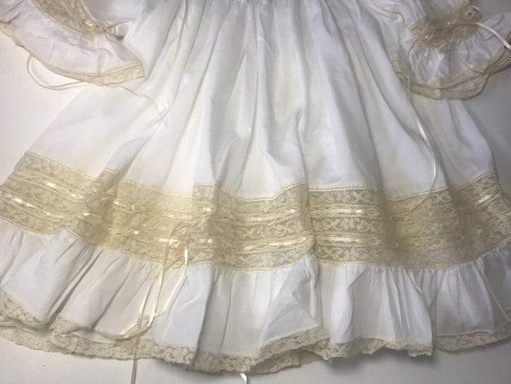 Vintage Custom Victorian Style Dress & Bonnet,Han… - image 8