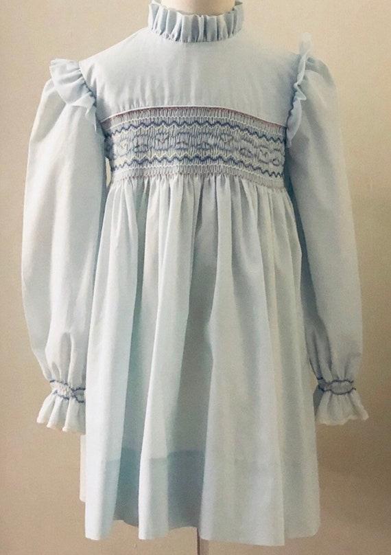Vintage Girls Handmade Smocked Dress,Vintage,Vinta