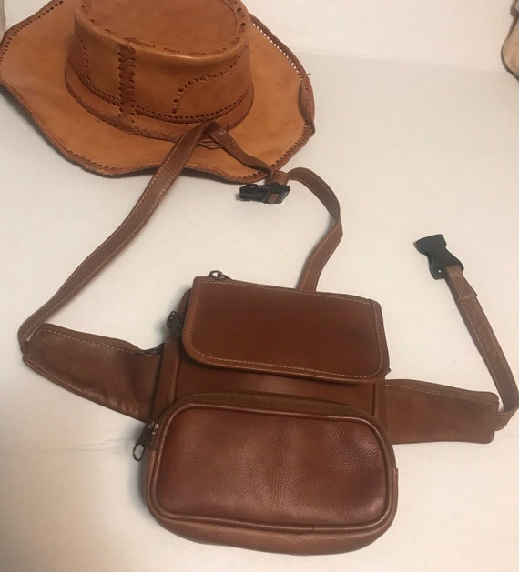 Leather fanny pack/leather backpack/leather fanny