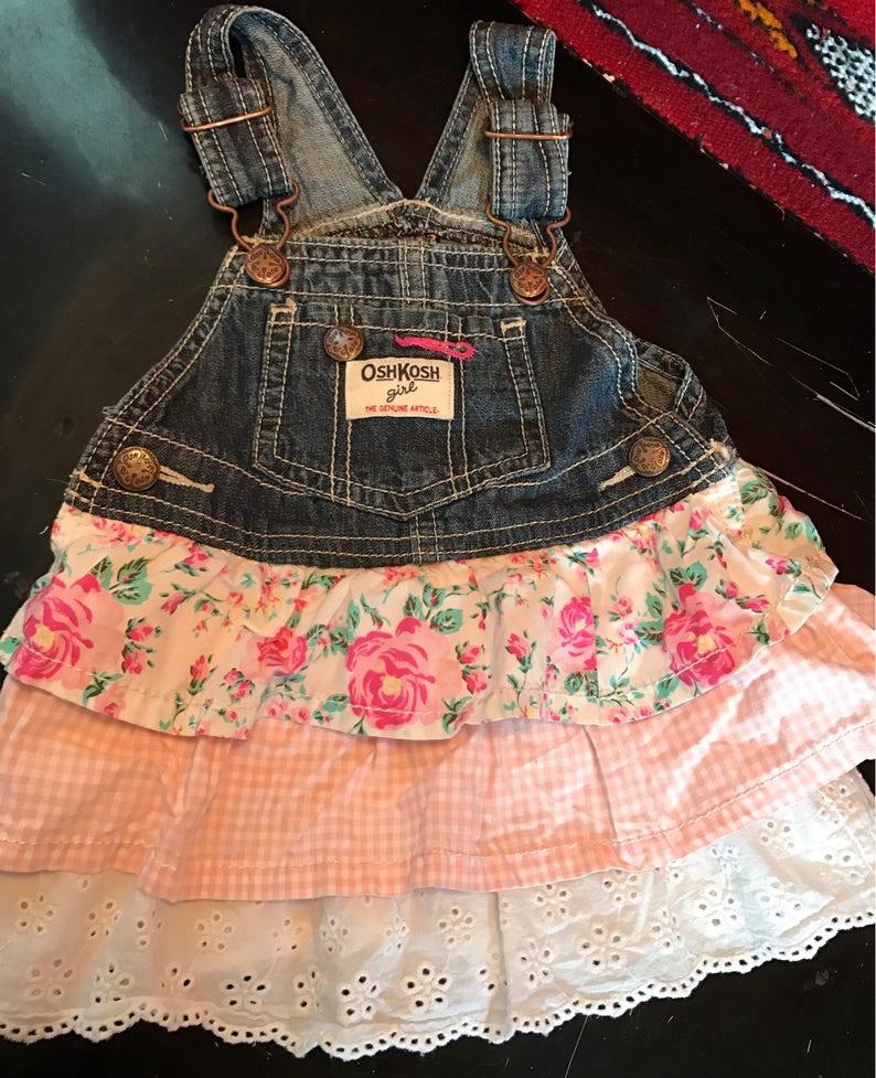 Dresses Oshkosh 24 Months Pink Ruffled Tiered Dress