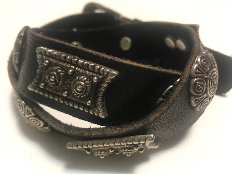 Leather Concho Western Belt