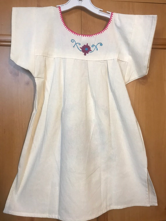 Girls Mexican Hand Embroidered dress,embroidered … - image 4
