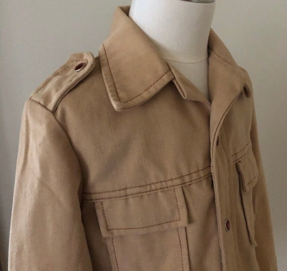 Vintage Embroidered Boys/Toddler Shirt Jacket,Cow… - image 5