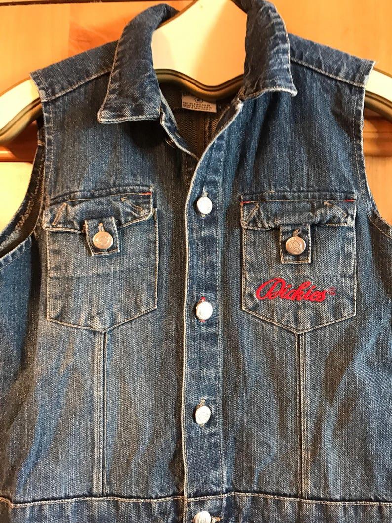 068d503a616d Dickies vintage blue jean romper skirt jean jumper sz 16