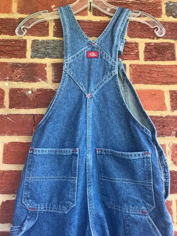 Dickies vintage Childs denim bib farmer overalls,… - image 5