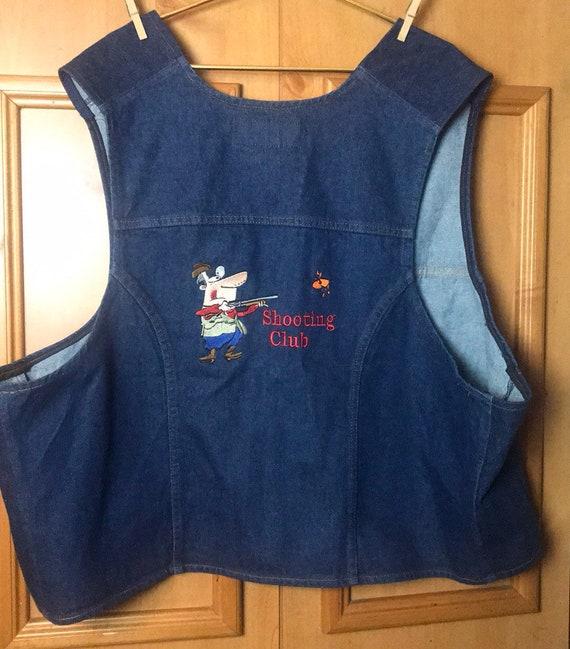 Wrangler bluejeans denim XXL embroidered vest