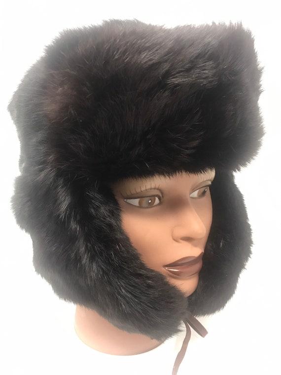 Vintage Fur Trapper Hat,Fur Hat,Trapper Hat,Winter