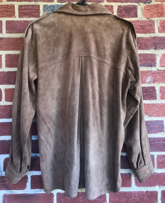 Vintage leather shirt,shirt jacket, vintage leath… - image 2