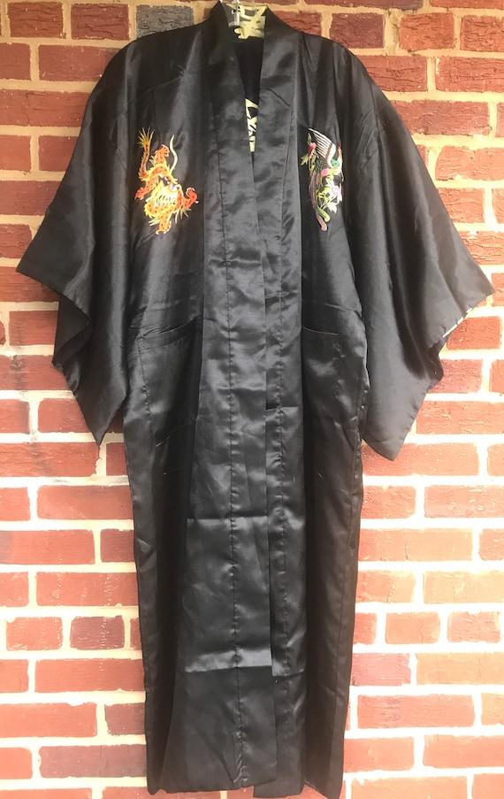 Kimono,Reversible kimono robe, vintage kimono,robe