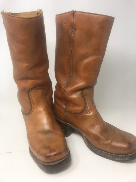 Cowboy western biker boots,motorcycle boot, campus