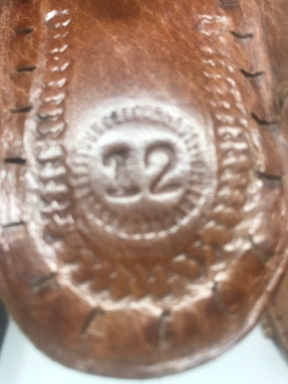 Leather girls sandal,sz 12,ethnic sandal - image 7