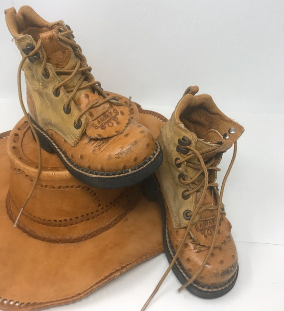 Roper Ariat Kids Leather Tie Boot