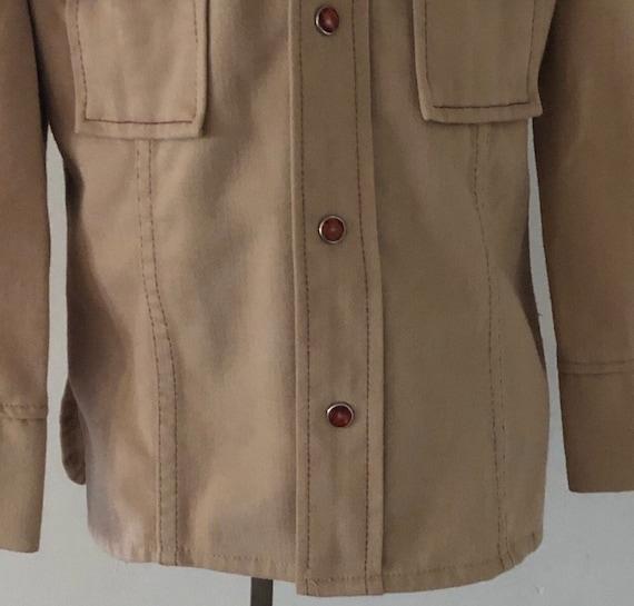 Vintage Embroidered Boys/Toddler Shirt Jacket,Cow… - image 7