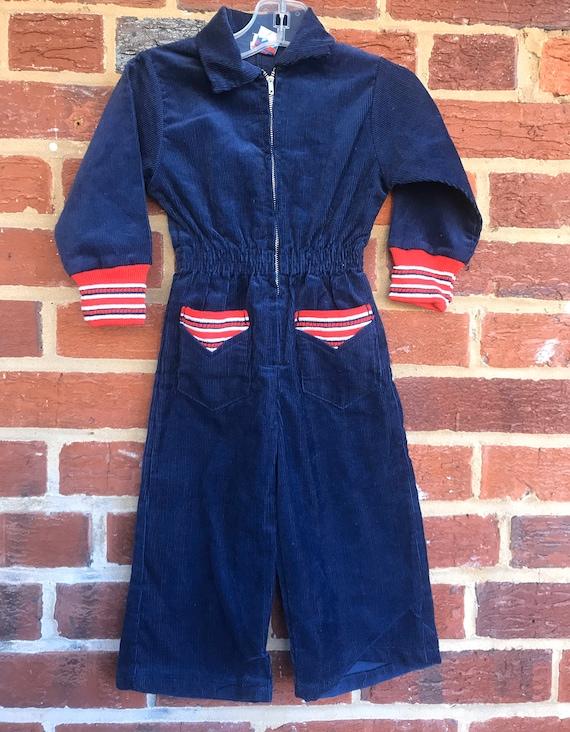 Vintage 1950s Corduroy Jumpsuit Coverall