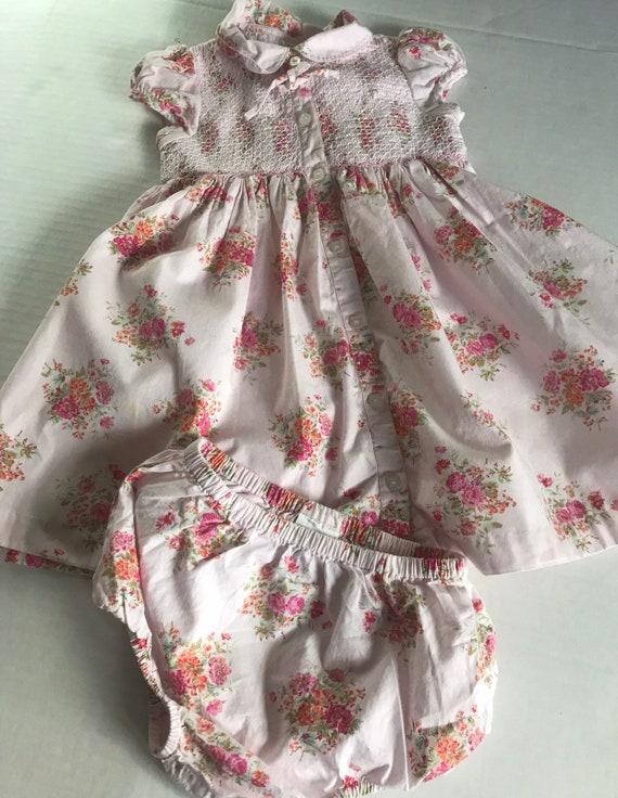 Laura Ashley smocked floral 24 month prairie dress