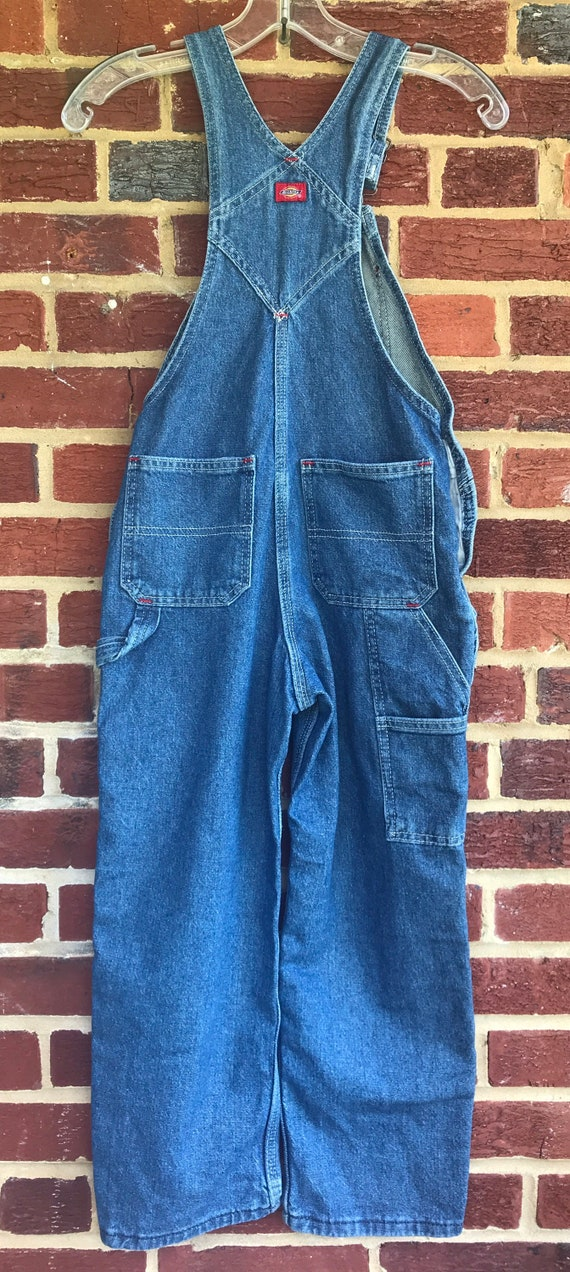 Dickies vintage Childs denim bib farmer overalls,… - image 2