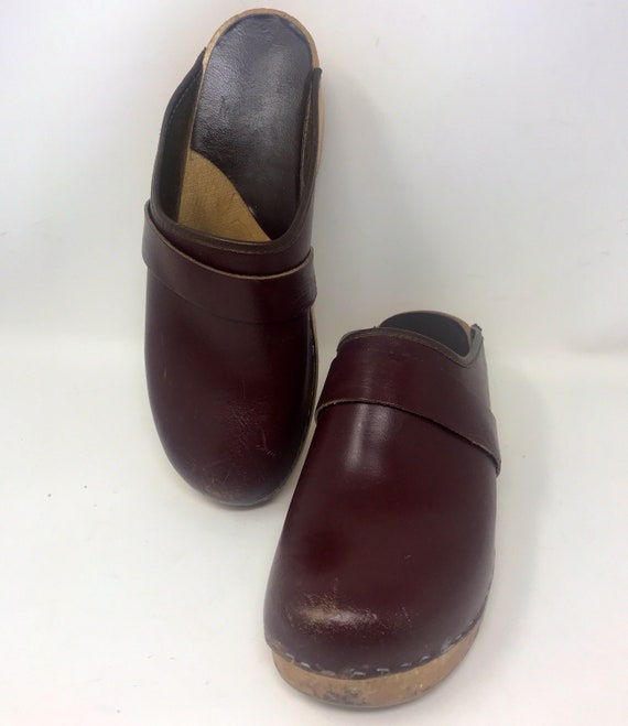 Vintage Leather Clogs,Leather clogs,Clogs