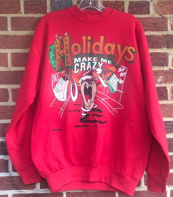Vintage Tasmanian Devil Holiday Sweatshirt,vintage