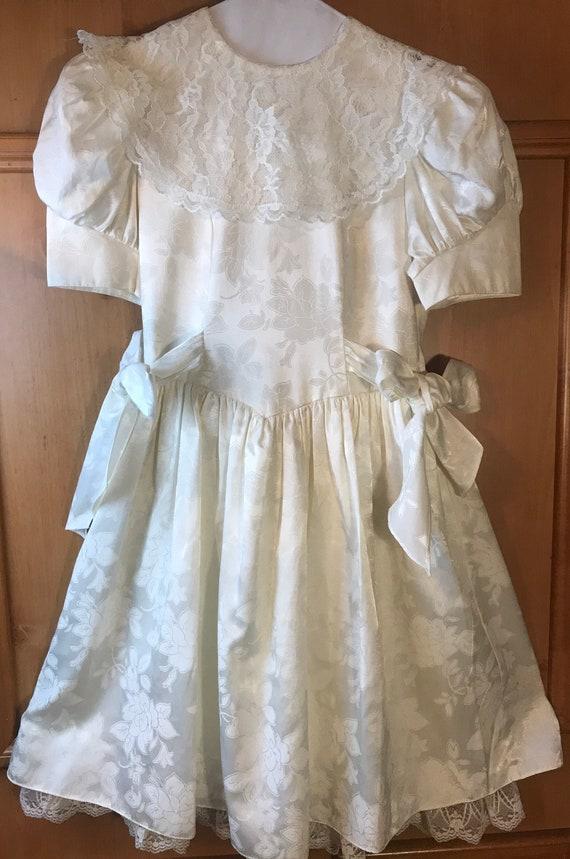 Gunne Sax Girls USA Lacey Dress,Vintage Girls Dres