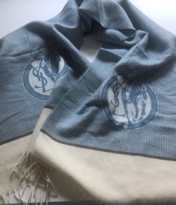 Vintage Yves Saint Laurent Wool Scarf,Vintage polo