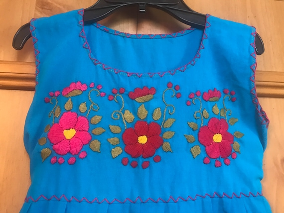 Girls Embroidered Handmade Dress,Embroidered Dres… - image 3