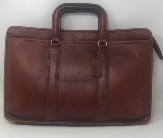 Vintage Coach Leather Briefcase,Top handle messeng