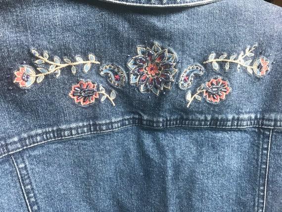 Pendleton Embellished Denim Jean Vest, denim vest… - image 4