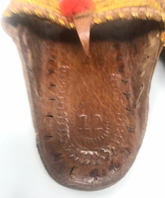 Leather girls sandal,sz 12,ethnic sandal - image 3