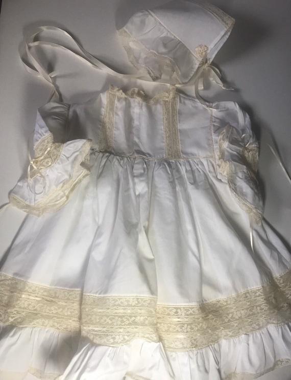 Vintage Custom Victorian Style Dress & Bonnet,Han… - image 2