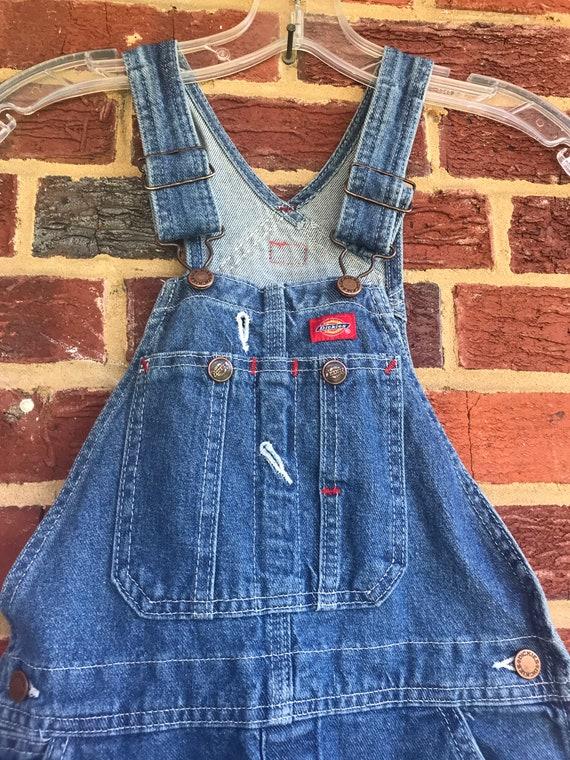 Dickies vintage Childs denim bib farmer overalls,… - image 3