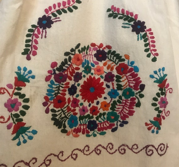 Girls Mexican Hand Embroidered dress,embroidered … - image 6