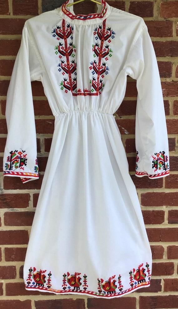 Embroidered Dress,vintage dress,vintage embroider… - image 1